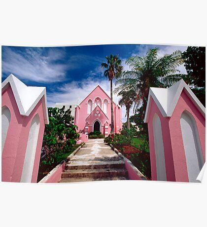 Pink Church Poster