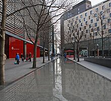 Reflections in More London Place by Keith Larby