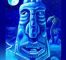Moonlit Moai Iphone Case by rawjawbone