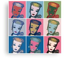 Warhol Barbie Canvas Print