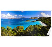 Trunk Bay Panorma Poster