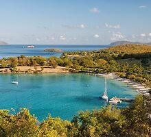 Caneel Bay Panorama by George Oze
