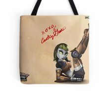 Courtney Gears Signed Poster Tote Bag