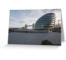 City Hall  and Tower Bridge London Greeting Card