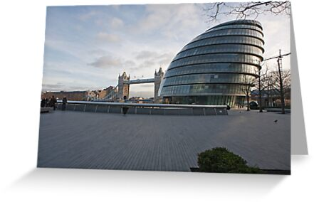 City Hall  and Tower Bridge London by Keith Larby