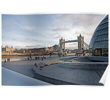 Tower of London, City Hall  & Tower Bridge London Poster