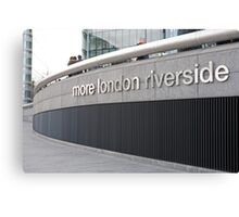 More London Riverside sign Canvas Print