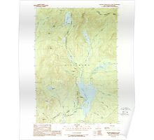 USGS TOPO Map New Hampshire NH Second Connecticut Lake 329779 1989 24000 Poster