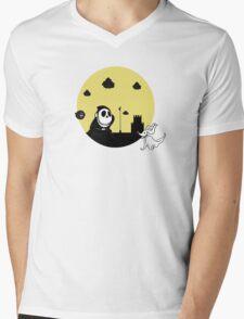 Shy Skellington Mens V-Neck T-Shirt