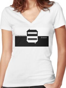Coronation Abbey Women's Fitted V-Neck T-Shirt