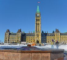 Parliament House with Centennial Flame by Poete100