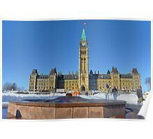 Parliament House with Centennial Flame Poster