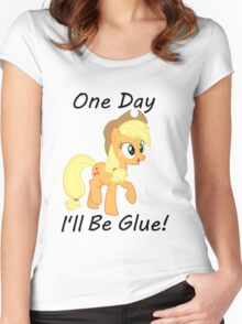 """Apple Jack """"One Day Ill Be Glue:  Women's Fitted Scoop T-Shirt"""