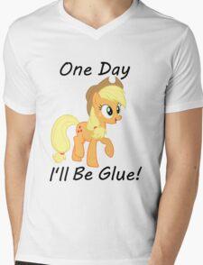 "Apple Jack ""One Day Ill Be Glue:  Mens V-Neck T-Shirt"