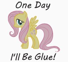 "Flutter Shy "" One Day Ill Be Glue"" by slkr1996"