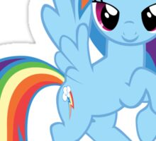 "Rainbow Dash ""One Day Ill Be Glue""  Sticker"
