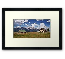 Mormon Row Historic District Framed Print