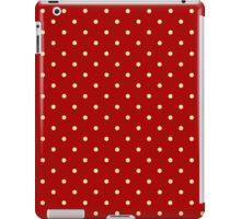 Red polka dots iPad Case/Skin