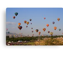 Mass Ascension,Great Reno Balloon Race,Reno NV USA Canvas Print