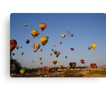 And the race is on!,Great Reno Balloon Race,Reno NV USA Canvas Print