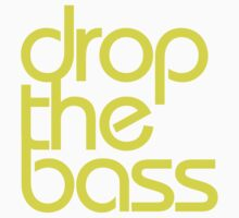 Drop The Bass (bright yellow) Kids Clothes