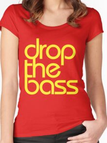 Drop The Bass (bright yellow) Women's Fitted Scoop T-Shirt