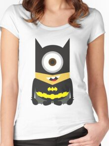 Despicable Me Minion Superheroes Batman Women's Fitted Scoop T-Shirt