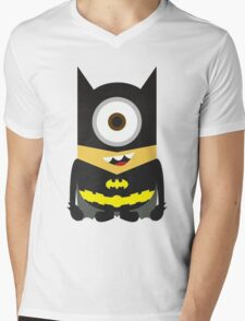 Despicable Me Minion Superheroes Batman Mens V-Neck T-Shirt