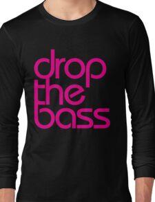 Drop The Bass (magenta) Long Sleeve T-Shirt