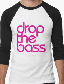 Drop The Bass (magenta) Men's Baseball ¾ T-Shirt
