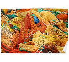 Fishing Float Nets Poster