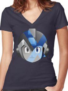 X-Megamen Women's Fitted V-Neck T-Shirt