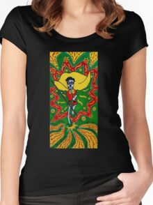 Robin Day of the Dead Women's Fitted Scoop T-Shirt