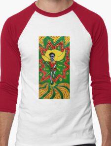 Robin Day of the Dead Men's Baseball ¾ T-Shirt
