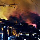 Steam train at night by Chris Samuel