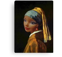 Barbie with a Plastic Earring Canvas Print