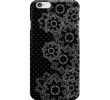 Polka Dot and Flowers Decoration iPhone Case/Skin