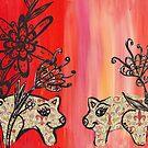 Fleur de Pigs by kewzoo