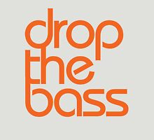 Drop The Bass (orange) Womens Fitted T-Shirt
