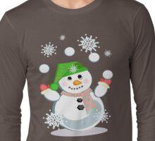 Juggling Snowman Long Sleeve T-Shirt
