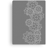 Polka Dot and Flowers Decoration Canvas Print