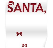 Santa It's Long Story  - T shirts & Accessories Poster