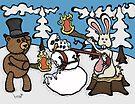 Teddy Bear and Bunny - The Mugging by Brett Gilbert
