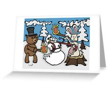 Teddy Bear and Bunny - The Mugging Greeting Card