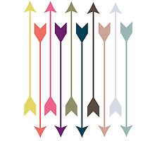Clean Modern Colorful Arrow Print by ThePaperPegasus