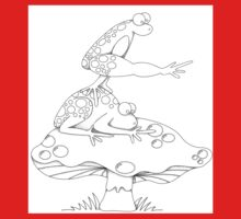 Leap Frog on a ToadStool B&W Kids Clothes
