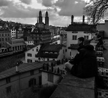 View Over Old Zurich Town by Ian Mooney