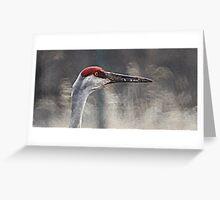 Crane Head Greeting Card