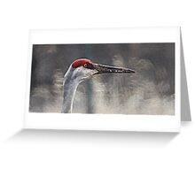 Crane Head Greeting Card