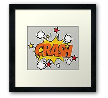 COMIC BOOK: CRASH! Framed Print